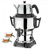 Teemaschine Samowar 3,5L +1L Teekanne Teeautomat Teekocher Teebereiter Tee