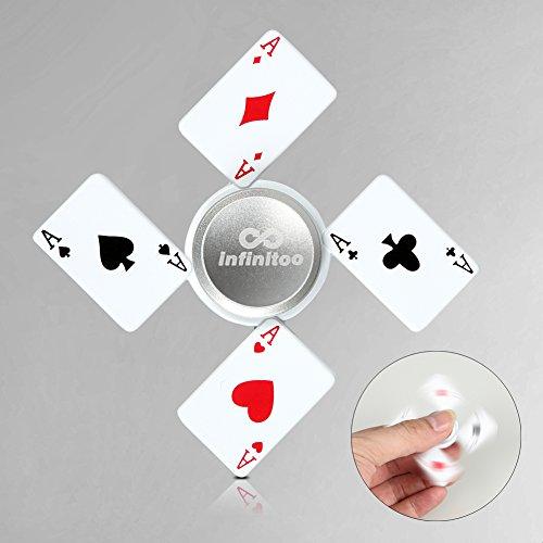 infinitoo Fidget Spinner | Hand Spinner Poker Spinner en Laiton 4-6 Mins | Cadeau Génial pour EDC | Soulager Le Stress pour Les Enfants et Les Adultes