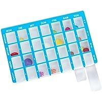 Pillendose Arzneikassette 7-Tage, 1 Woche, Blau - Tablettenbox Pillenbox preisvergleich bei billige-tabletten.eu