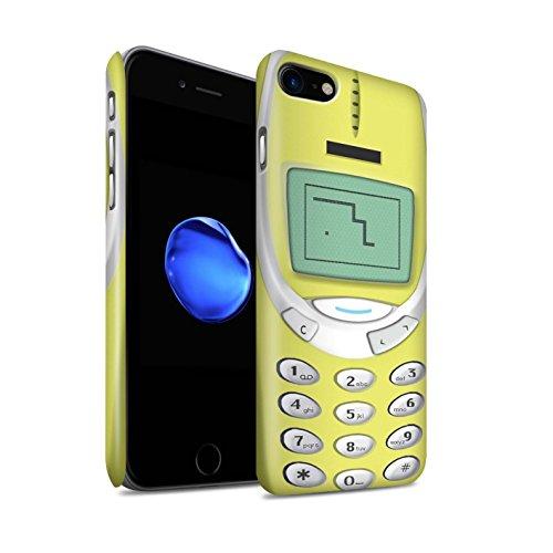STUFF4 Matte Snap-On Hülle / Case für Apple iPhone 7 Plus / Grünes Nokia 3310 Muster / Vintage Handys Kollektion Gelbes Nokia 3310