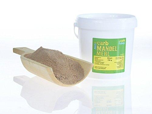 Preisvergleich Produktbild -Carb MANDELMEHL (braun entölt) 750 g