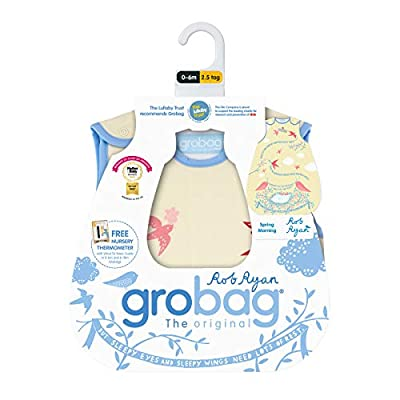 Grobag Rob Ryan Spring Morning - Saco de dormir (2,5 Tog, 0-6 meses)