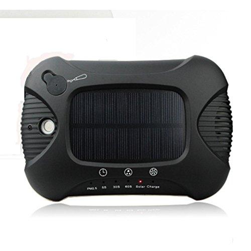 LIRONG Purificador De Aire Del Coche Solar, Operación Inteligente Del Tacto Purificador Del Aire Del...