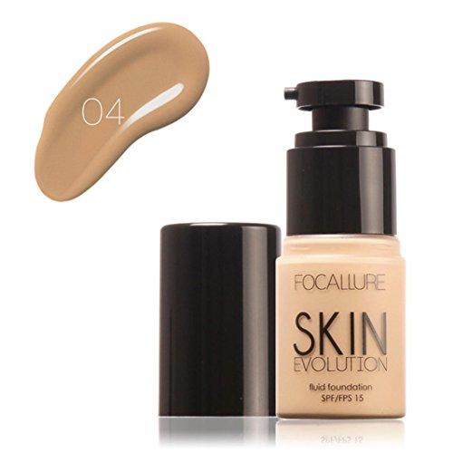 LCLrute NEUE Mode FOCALLURE Gesicht Foundation Make-up Basis Flüssigkeit Concealer Feuchtigkeitscreme Öl-Kontrolle 35ml (D)