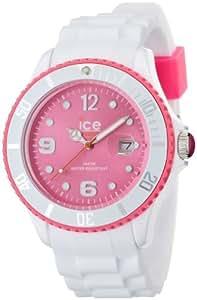 Ice-Watch Unisex-Armbanduhr Ice-White Big weiß/pink Analog Quarz SI.WP.B.S.11