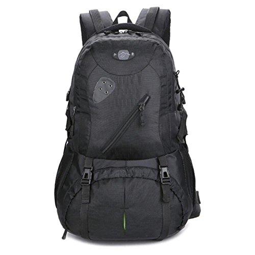 Grande capacità zaino esterno uomini e donne borsa a tracolla viaggiare a piedi , black Black