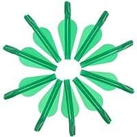 perfk 10 Pcs Nocks de Flechas Ligero Fácil Instalación de Archero Compuesto Recurvo - Verde