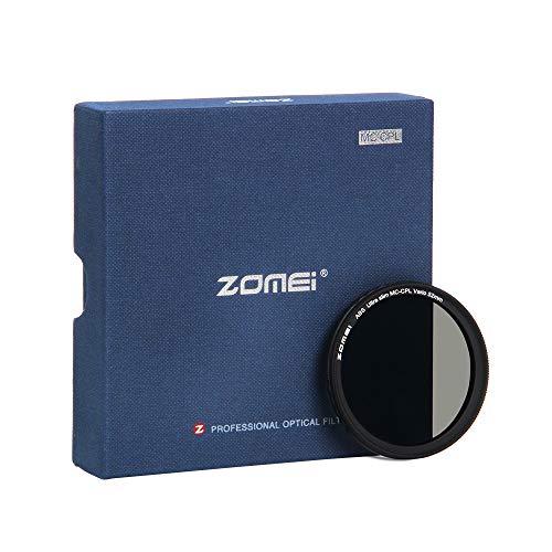 ZOMEi CPL Zirkular-Polfilter Polarisationsfilter Optisches Glas & Aluminium Für Canon Sony Nikon Fujifilm Pentax Tamron Sigma Leica Olympus Panasonic (52mm)