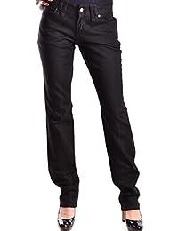 Galliano Damen MCBI130048O Schwarz Baumwolle Jeans