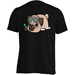 Pug De Bebé Camiseta de los hombres r802m
