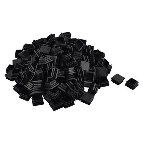 Pieds de la chaise table dealMux meubles en plastique Tube carré Tube d'insertion couvercle de la 32 x 32 mm 200pcs noir