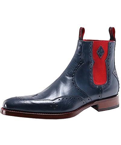 Jeffery-West Men's Leather Novikov Dexter Chelsea Boots UK 9 Indigo