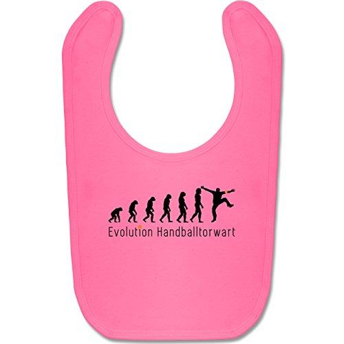 Shirtracer Evolution Baby - Handballtorwart Evolution - Unisize - Pink - BZ12 - Baby Lätzchen Baumwolle