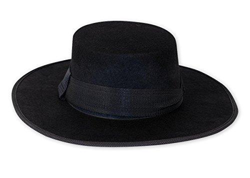 e Hut aus Filz, Einheitsgröße für Erwachsene (V For Vendetta Perücke Und Hut)