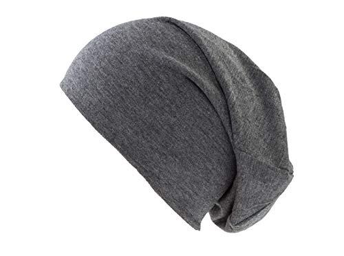 shenky Dunkelgraue Jersey Beanie Mütze für Herren und Damen (Männer-beanie-mütze)