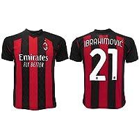 Maglia Ibrahimovic Milan 2021 Ufficiale 2020-2021 Adulto Ragazzo Bambino Ibra Zlatan 21 (L Adulto)