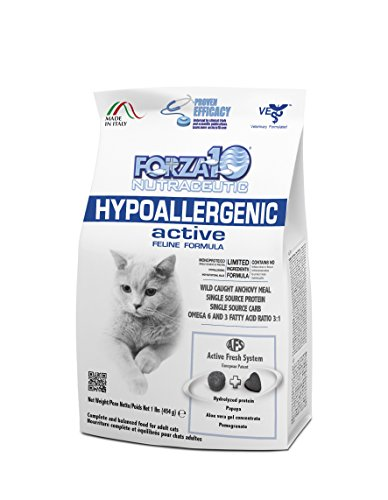 Forza10 Hypoallergenic Active, Trockenfutter für Katzen mit Hauterkrankung, 1er Pack (1 x 454 g)