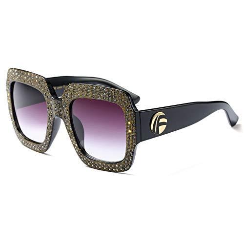 GFF Voller Diamant Quadrat Sonnenbrille Übergroße Frauen Tschechische Diamanten Marke Brille Designer Mode Weiblich 45404