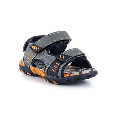 Ascot Boys Grey & Navy Sporty Sandal - Size 2 UK - Multicolour