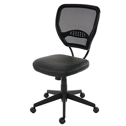 Mendler Profi-Bürostuhl Seattle, Chefsessel Drehstuhl, 150kg belastbar, Kunstleder ~ schwarz ohne Armlehnen