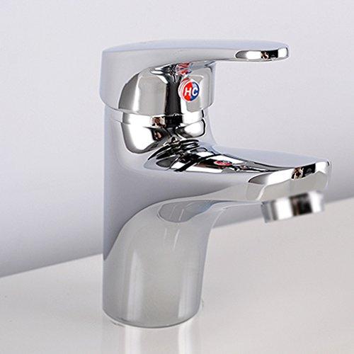 Tout cuivre chaud et Bassin d'eau froide Robinet salle de bains Cabinet Robinet bassin trou Robinet de lavabo Lavabo