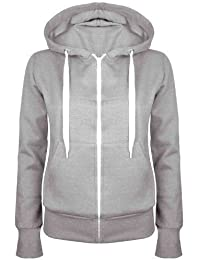Be Jealous Plain Hoody Girls Zip Womens Sweatshirt Hoodies Jacket Top Plus