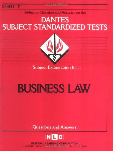 Business Law (Dante Ser. No. 7)