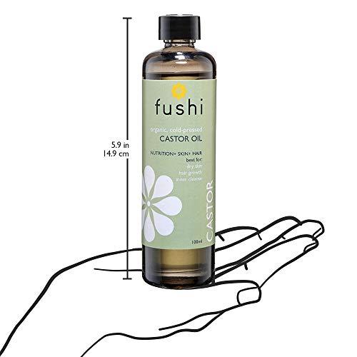 Fushi Organic Virgin Castor Oil ,fresh-pressed,best For Dry Skin, Hair  Growth, Inner Cleanse,100 Ml