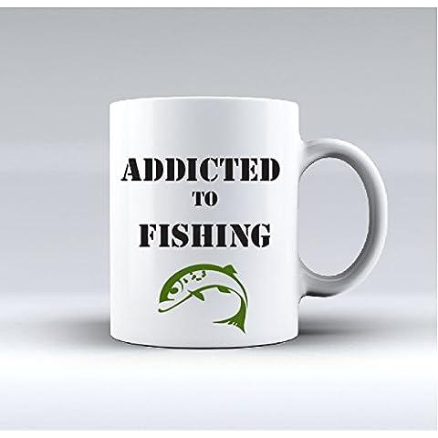 Fan della pesca bone china mug, perfetta idea regalo per amici di pesca