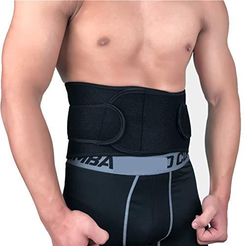 Pbfone per schiena lombare regolabile Cintura di sostegno lombare con doppio cinghie regolabili per il dolore lombare traspirante per sport