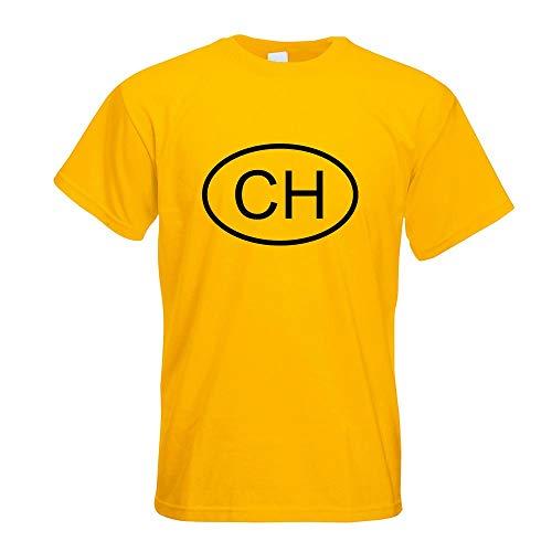 Schweiz CH T-Shirt Motiv Bedruckt Funshirt Design Print