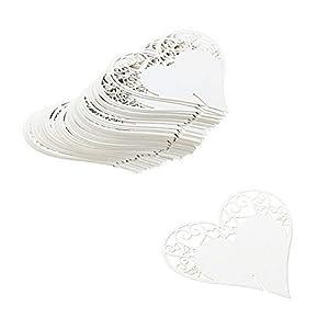 etiquetas de cartulina: JZK 50 x Corazón blanco tarjetas etiquetas para boda cumpleaños nacimiento bauti...