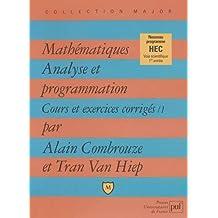 Mathématiques : Analyse et programmation