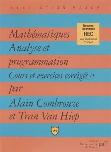 Mathmatiques : Analyse et programmation