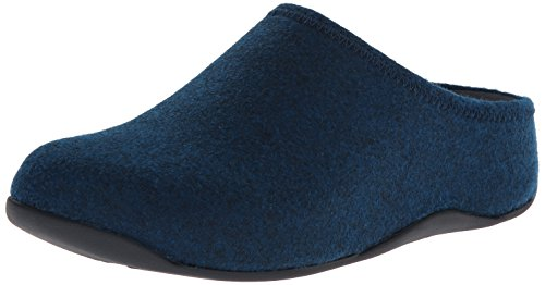 Fitflop Shuv Felt, Damen Clogs, Blau (Super Navy), 39 EU (6 UK) (Fitflop Shuv Frauen)