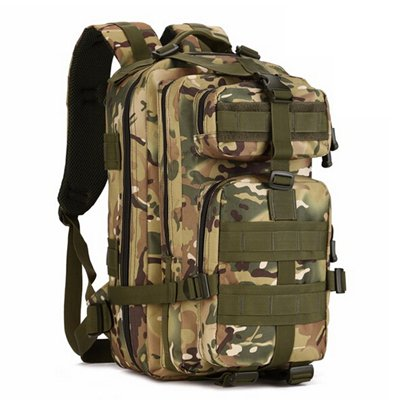Mefly Gli Uomini Del Sacco Zaino 30L Per Escursione Trekking Camouflage Zaino Viaggio Zaino In Nylon Impermeabile Borsa Militare Pack Black cp
