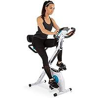Klarfit Azura Plus Vélo d'exercice 3-en-1 • Fitness Bike • Cardio Training • Entraînement Courroie • Pulsomètre • 8 Niveaux de résistance magnétique