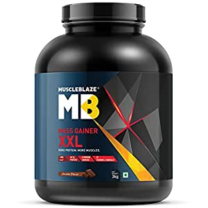 MuscleBlaze Mass Gainer XXL with Complex Carbs and Proteins in 3:1 Ratio - 6.6 lb (Chocolate)