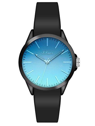 s. Oliver–Bracciale unisex orologio analogico al quarzo, in Silicone 3198–PQ