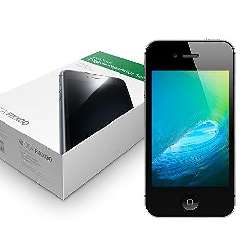 GIGA Fixxoo iPhone 4s Display schwarz im Komplettset Ersatz Für