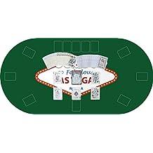 "Tapete Poker Antideslizante Oval ""Las vegas"" verde PVC 120 cm x 60 cm | Tapete poker mesa PVC | Tapete vinilico para mesas | Poker ""Las vegas"" verde"