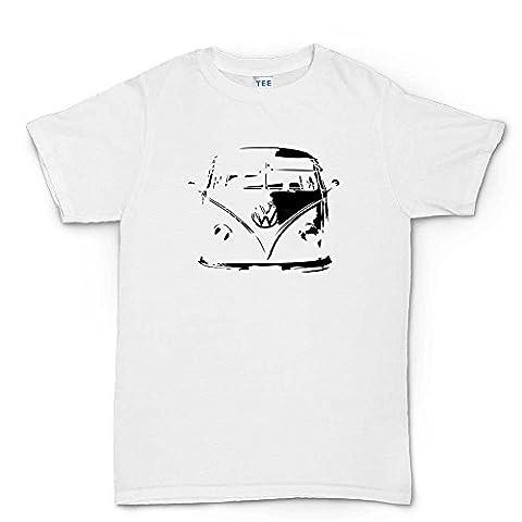 Split screen t-shirt classic t1 camper van - Blanc -
