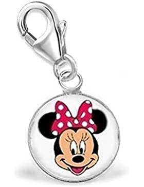 GH1a Minnie Maus Charm Anhänger 925 Sterling Silber Mädchen Kinder Geschenkidee / ch-023