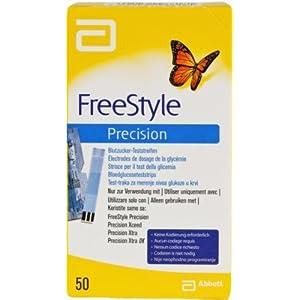 41WQNp9RJxL. SS300  - Freestyle Precision Blutzucker Teststr.o.codier. 50 stk