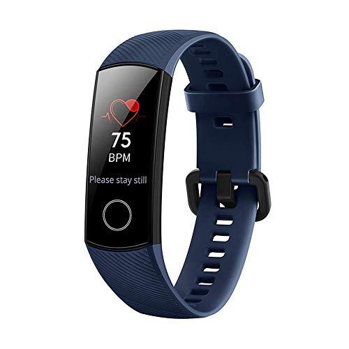 Huawei Honor Band 4 Fitness Armband mit Pulsmesser Tracker Wasserdicht, Schlaf-Monitor Kalorienzähler GPS-Routenverfolgung Blutdruckmonitor, Smart Watch für Damen Herren mit iOS Android(Blau)