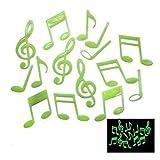 Note musical lumineux fluorescents autocollant de mur décoration mural