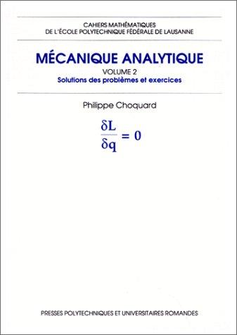 Mécanique analytique, volume 2