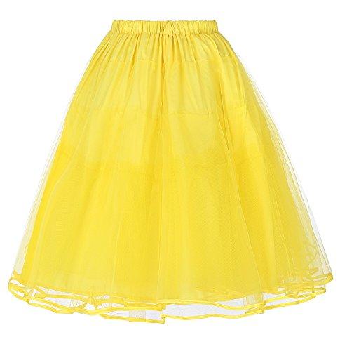 Belle Poque 50s Petticoat Retro Vintage Rock Damen Unterrock crinoline petticoat für Rockabilly Kleid BP229-5