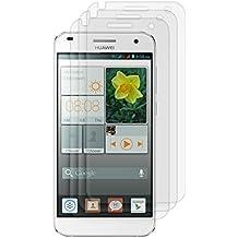 3x kwmobile Lámina protectora de pantalla MATE y ANTIREFLECTANTE con efecto antihuellas para Huawei Ascend G7 - CALIDAD SUPERIOR