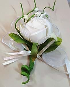 Set 24 pezzi, Bomboniera fiore bouquet bocciolo, + racchettine portaconfetti. (ck2021) (CHAMPAGNE-PANNA)